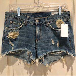 Rag & Bone    Cut Off Denim Shorts Distressed